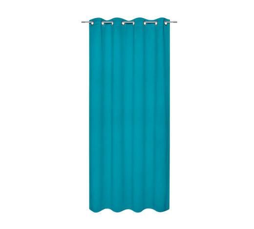 ZÁVĚS HOTOVÝ, black-out (nepropouští světlo), 140/245 cm - petrolej, Basics, textil (140/245cm) - Esposa