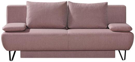 SCHLAFSOFA in Textil Rosa - Schwarz/Rosa, MODERN, Textil/Metall (202/90/91cm) - Xora
