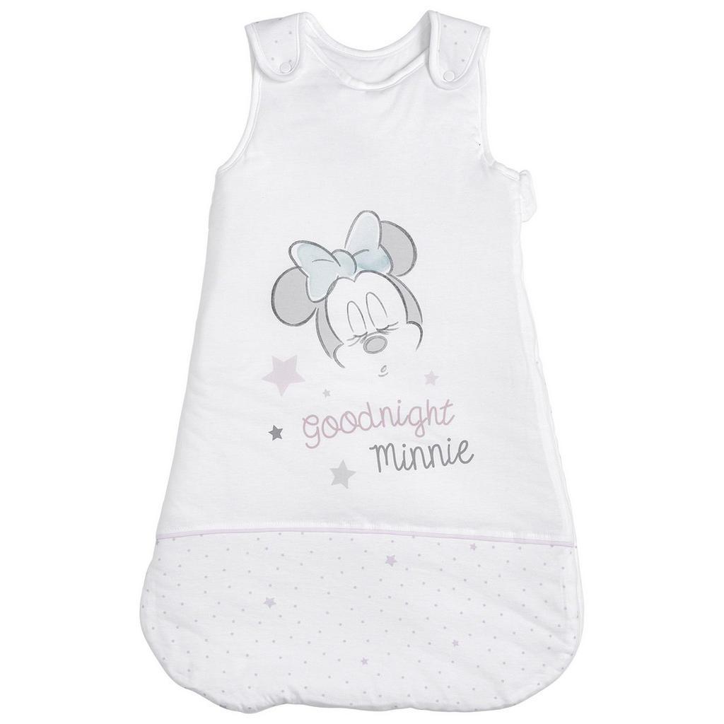 Disney Babyschlafsack Minnie Mouse , Grau, Weiß, Hellrosa , Textil , Stern , Füllung: Polyester , 45x90 cm , Babyheimtextilien, Babyschlafsäcke