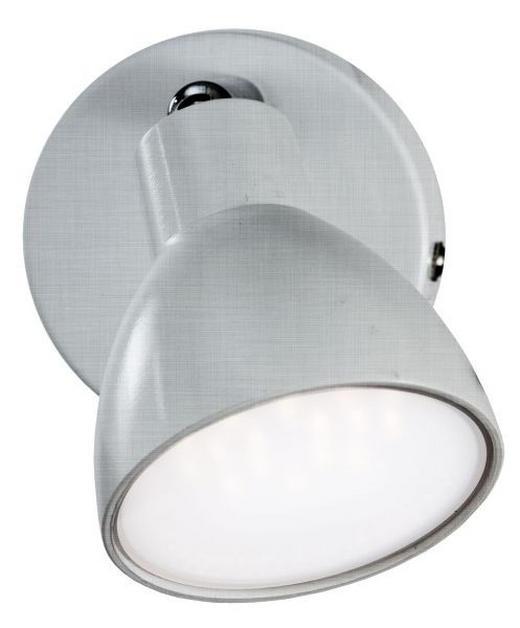 LED-STRAHLER - Nickelfarben, Design, Kunststoff (14cm)