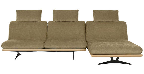 OTTOMANE Hellgrün  - Beige/Schwarz, Design, Holz/Textil (114/92/165-218cm) - Dieter Knoll