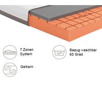 GELSCHAUMMATRATZE Primus 310 90/200 cm  - Dunkelgrau/Weiß, Basics, Textil (90/200cm) - Schlaraffia