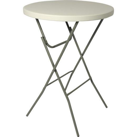 STEHTISCH Alufarben, Weiß - Alufarben/Weiß, Trend, Kunststoff/Metall (Ø80/110cm)