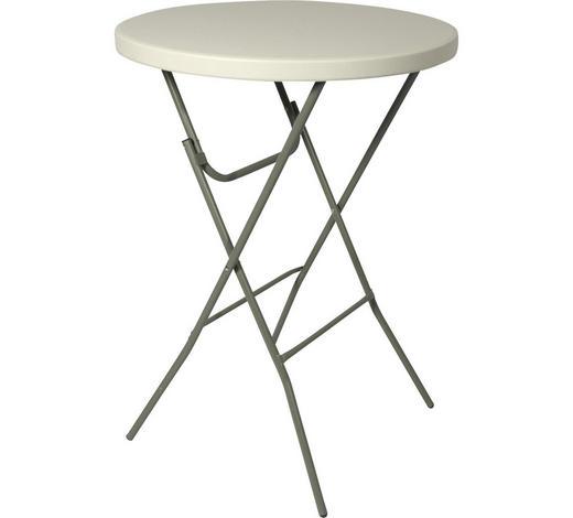 STEHTISCH Weiß, Alufarben  - Alufarben/Weiß, Trend, Kunststoff/Metall (80/110cm)