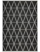 OUTDOORTEPPICH  In-/ Outdoor 120/170 cm  Grau, Schwarz   - Schwarz/Grau, Design, Naturmaterialien/Textil (120/170cm) - Novel