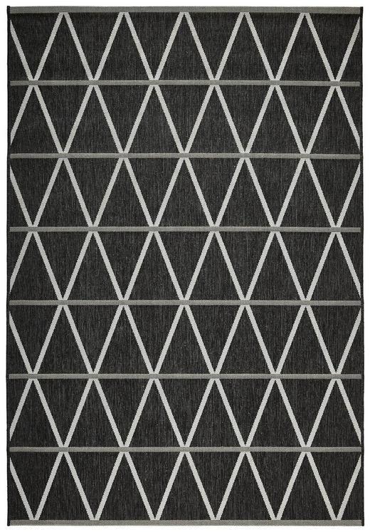 OUTDOORTEPPICH  In-/ Outdoor 120/170 cm  Grau, Schwarz - Schwarz/Grau, Design, Textil/Weitere Naturmaterialien (120/170cm) - Novel