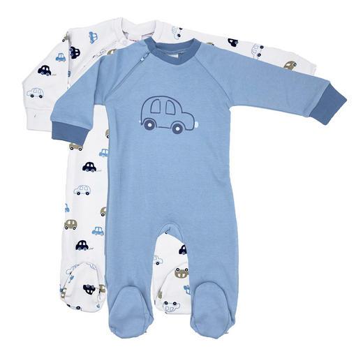 SCHLAFANZUG - Blau/Weiß, Basics, Textil (68null) - My Baby Lou