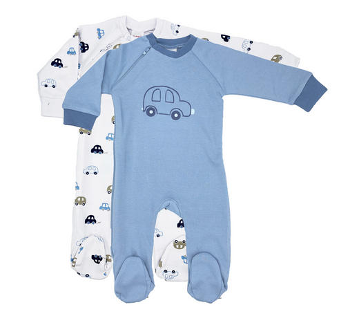 SCHLAFANZUG - Blau/Weiß, Basics, Textil (80null) - My Baby Lou