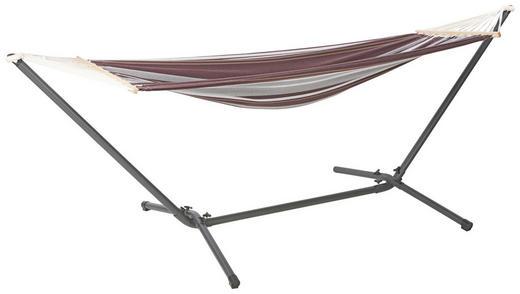VISEĆA MREŽA ZA LEŽANJE - svijetlo smeđa/crna, Design, metal/tekstil (300/120/100cm) - AMBIA GARDEN