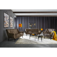 CHESTERFIELD-SOFA - siva/crna, Romantično / ladanjski, drvo/tekstil (160/90/90cm) - Stylife