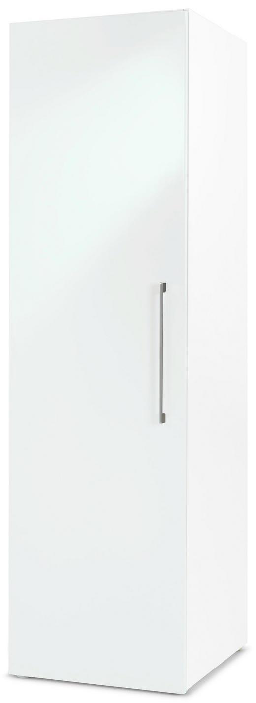 DREHTÜRENSCHRANK 1  -türig Weiß - Chromfarben/Weiß, Design, Holzwerkstoff/Metall (50/176/57cm) - CARRYHOME
