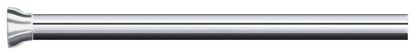 DUSCHVORHANGSTANGE  Alufarben, Weiß - Alufarben/Weiß, Basics, Metall (125-220cm) - SPIRELLA