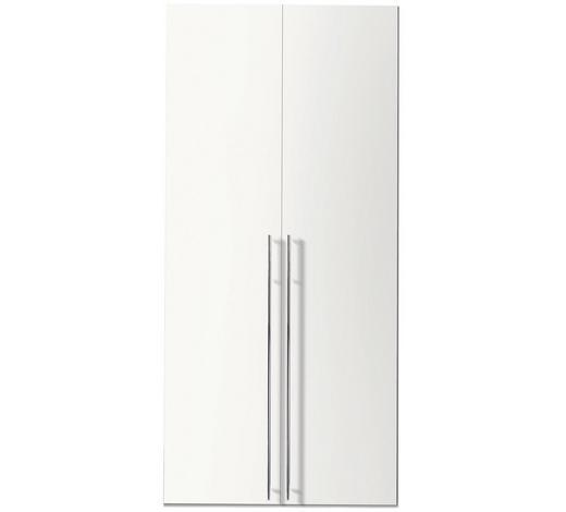 DREHTÜRENSCHRANK in Weiß - Chromfarben/Weiß, Design, Holzwerkstoff/Metall (100/236/58cm) - Hom`in