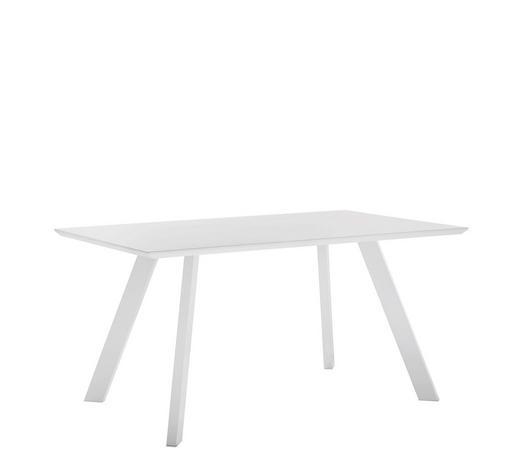 JÍDELNÍ STŮL, bílá - bílá, Design, kov/kompozitní dřevo (150/90/75cm) - Carryhome