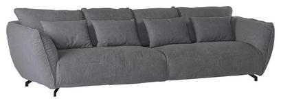 MEGASOFA in Textil Grau  - Schwarz/Grau, LIFESTYLE, Textil (320/80/125cm) - Carryhome