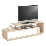 TV-ELEMENT - barve hrasta/bela, Design, umetna masa/leseni material (138/45,5/40cm) - BOXXX