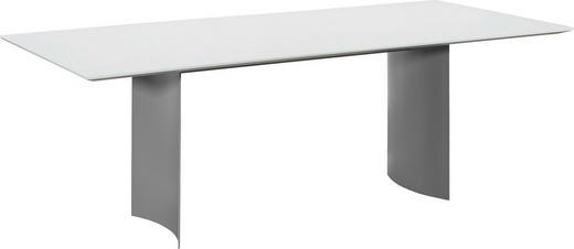 ESSTISCH rechteckig Dunkelgrau, Weiß - Dunkelgrau/Weiß, Design, Glas/Metall (220/100/75cm) - Dieter Knoll