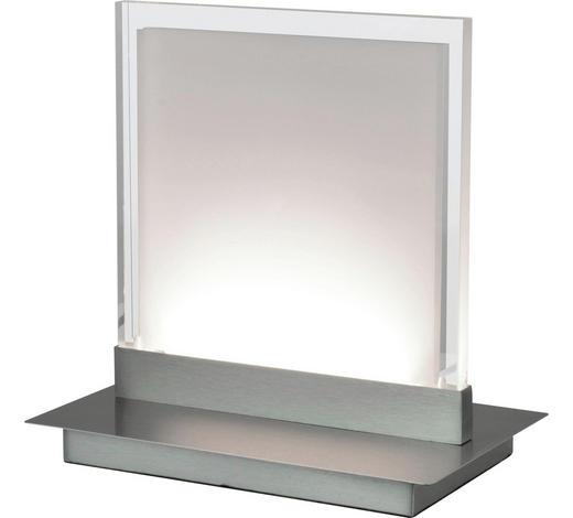 LED-TISCHLEUCHTE - Nickelfarben, Design, Kunststoff/Metall (21/13/21cm) - Novel