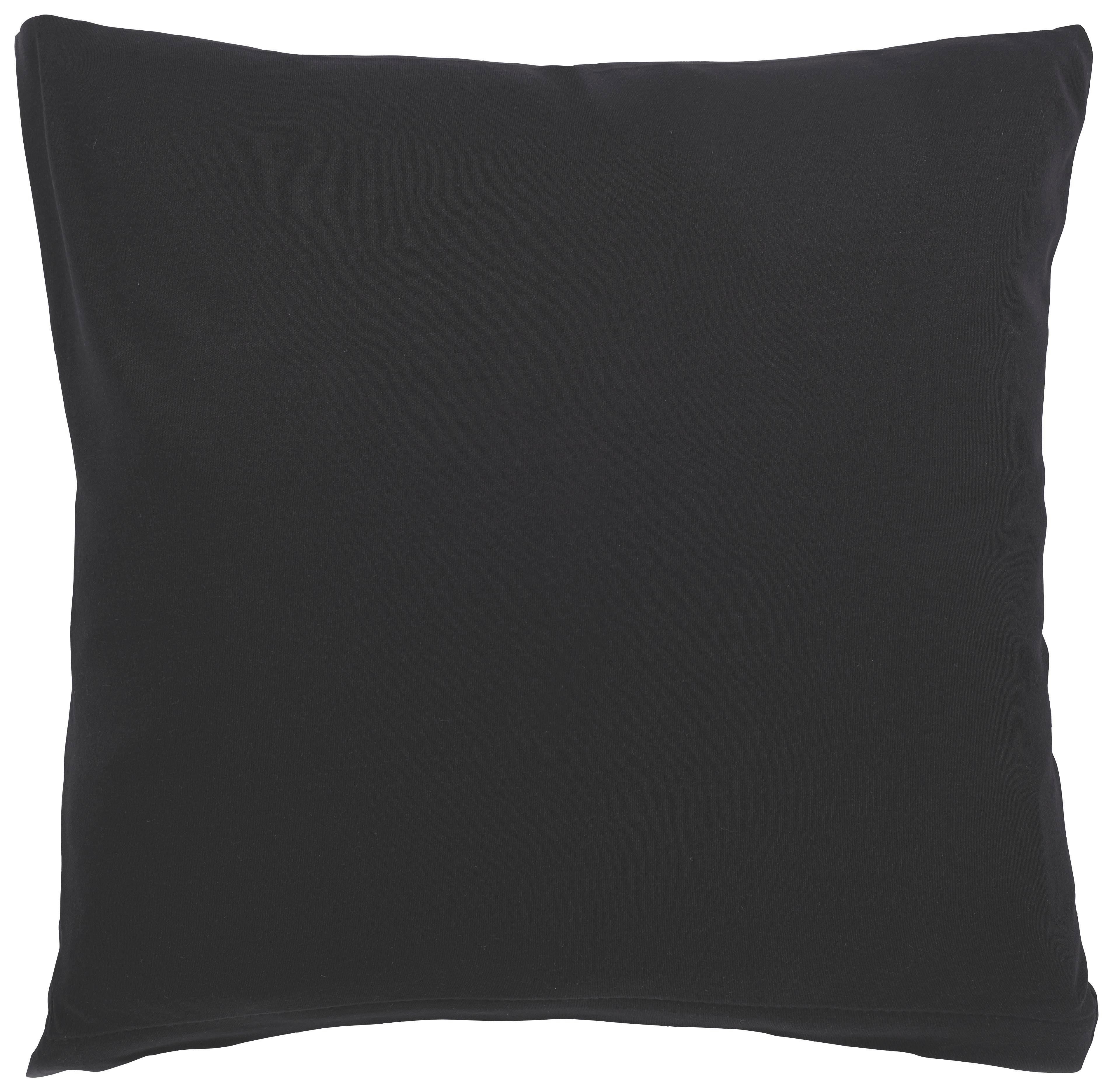 KISSENHÜLLE Schwarz 40/40 cm - Schwarz, Basics, Textil (40/40cm) - SCHLAFGUT