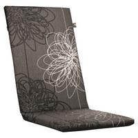 SESSELAUFLAGE Blume - Weiß/Grau, Design, Textil (50/4/109cm) - KETTLER HKS