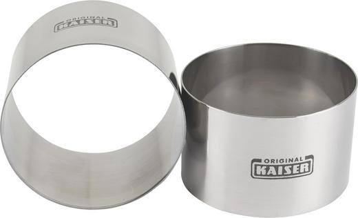 2TLG. SPEISERINGE 8CM - Edelstahlfarben, Basics, Metall (8cm) - Kaiser