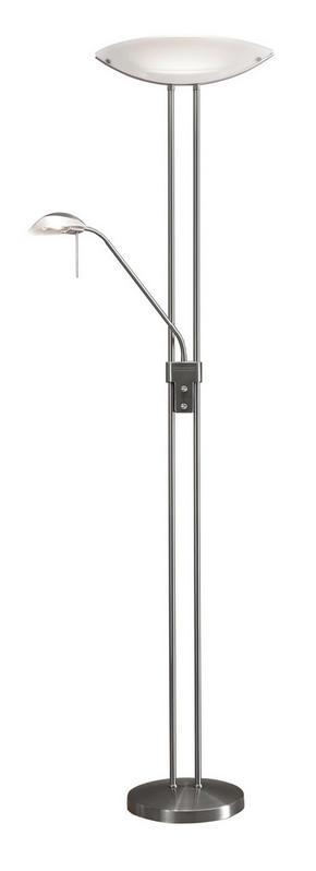 GOLVLAMPA - vit/nickelfärgad, Basics, metall/glas (44/28/180cm) - Boxxx