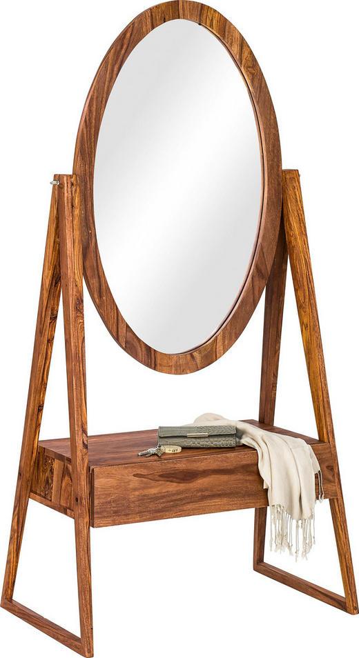STANDSPIEGEL Sheesham Sheeshamfarben - Sheeshamfarben, Trend, Glas/Holz (76/160/38cm) - AMBIA HOME