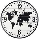 WANDUHR 60 cm   - Schwarz/Weiß, LIFESTYLE, Holzwerkstoff (60cm) - Ambia Home