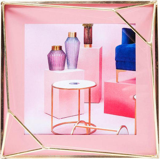 BILDERRAHMEN  Rosa - Rosa, MODERN, Glas/Metall (13,6/13,6/3,5cm) - Kare-Design