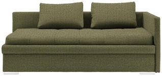 LIEGE in Textil Grün  - Chromfarben/Grün, KONVENTIONELL, Kunststoff/Textil (217/85/104cm) - Venda