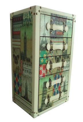 KISTA - multicolor, Trend, träbaserade material (34/60/25cm) - Ambia Home