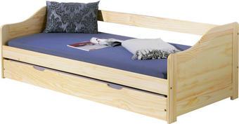 BETT Kiefer massiv 90/200 cm - Naturfarben/Kieferfarben, KONVENTIONELL, Holz (90/200cm) - Carryhome