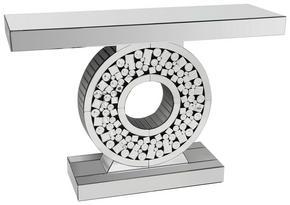 KONSOL - silver, Design, glas/träbaserade material (120/35,5/80cm) - Ambia Home