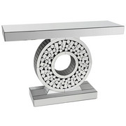 KONSOLE in Silberfarben - Silberfarben, Design, Glas/Holzwerkstoff (120/35,5/80cm) - Ambia Home