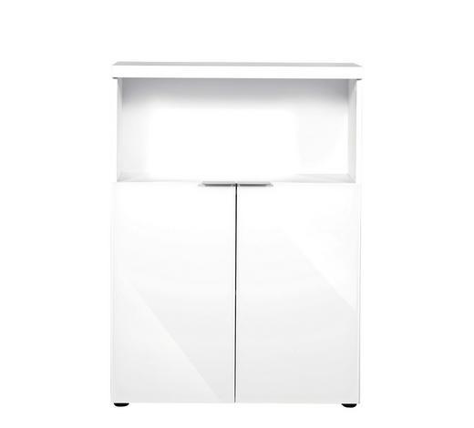 TÜRENSET Weiß  - Alufarben/Weiß, Design, Glas/Metall (80/71cm)