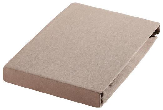 SPANNBETTTUCH Biber Taupe bügelfrei - Taupe, Textil (100/200cm) - Janine