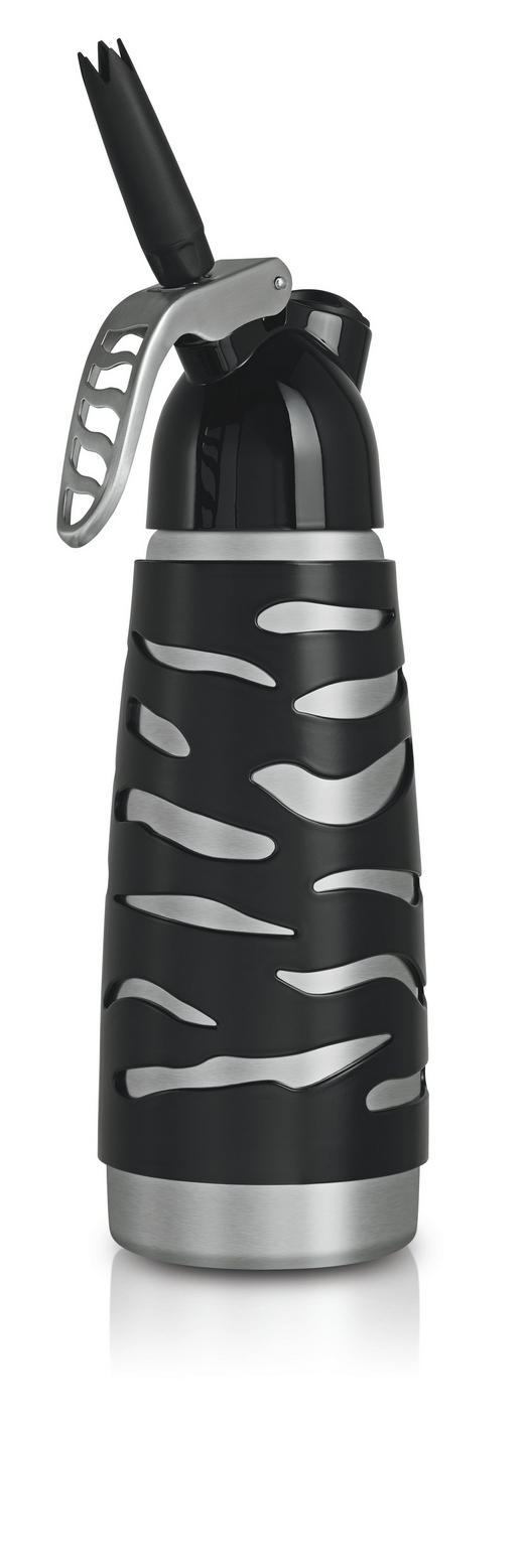 SAHNEBEREITER - Silberfarben/Schwarz, Basics, Kunststoff/Metall (0,5l) - ISI