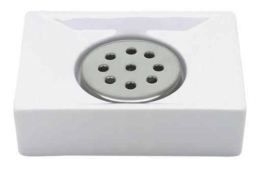 SEIFENSCHALE - Weiß, Basics (11/3,5/6,5cm) - SPIRELLA