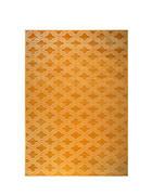 TEPPICH   Weiß, Currygelb - Currygelb/Weiß, Design, Kunststoff/Textil (160/230cm)