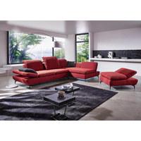 WOHNLANDSCHAFT in Textil Rot  - Silberfarben/Rot, Design, Textil/Metall (200/315cm) - Chilliano