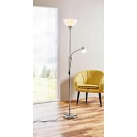 STEHLEUCHTE - Weiß/Nickelfarben, Basics, Kunststoff/Metall (25/25/181,5cm) - Boxxx