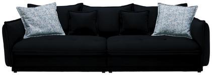 BIGSOFA in Textil Schwarz - Schwarz, Design, Textil (295/88/134cm) - Hom`in