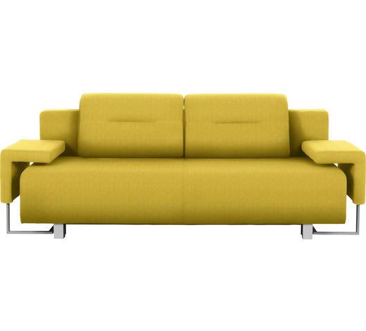 SCHLAFSOFA in Textil Gelb - Chromfarben/Gelb, Design, Kunststoff/Textil (222/84/93cm) - Carryhome