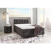 POSTEL BOXSPRING, 140/200 cm, textil, šedá, černá - šedá/černá, Design, kov/textil (140/200cm) - Carryhome