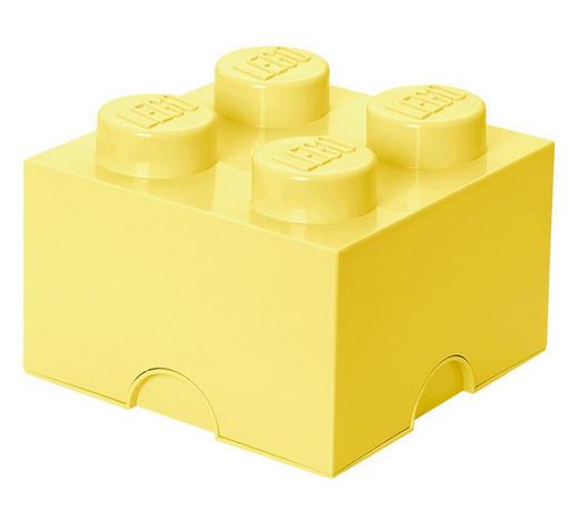 AUFBEWAHRUNGSBOX 25/25/18 cm - Hellgelb, Trend, Kunststoff (25/25/18cm) - Lego