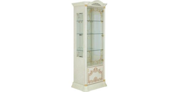 VITRINE in Beige - Beige/Goldfarben, LIFESTYLE, Glas/Holzwerkstoff (76/209/53cm) - Cantus