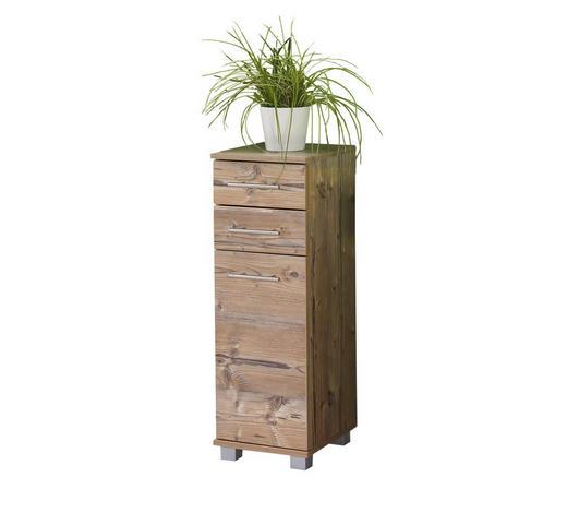 UNTERSCHRANK Fichtefarben  - Fichtefarben/Edelstahlfarben, KONVENTIONELL, Holzwerkstoff/Metall (30,5/89/33cm) - Stylife