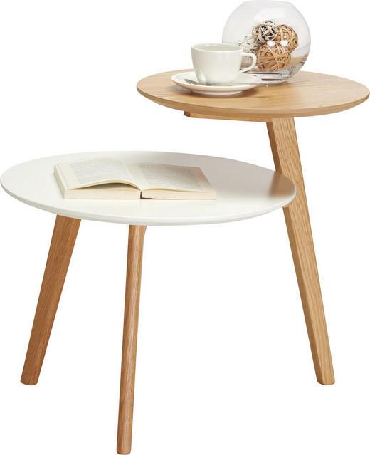 Beistelltisch in Eichefarben, Weiß - Eichefarben/Weiß, Design, Holzwerkstoff (62/50/55cm) - Carryhome