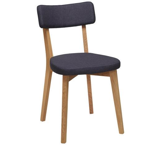 STUHL in Holz, Textil Grau, Eichefarben - Eichefarben/Grau, Design, Holz/Textil (44/82/55cm) - Carryhome