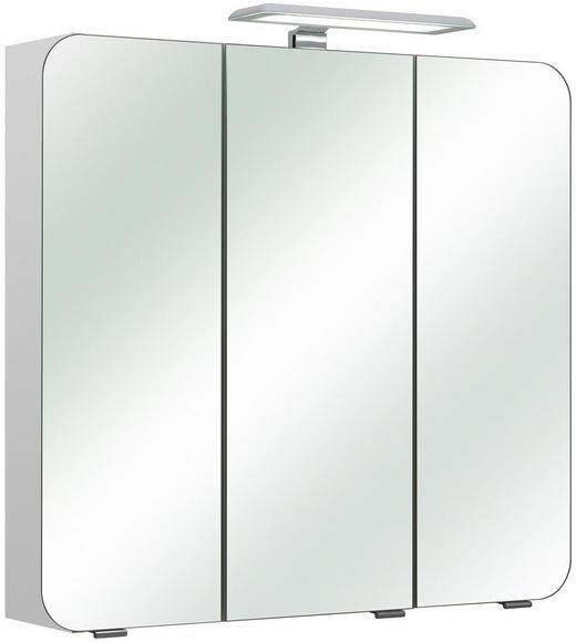 SPIEGELSCHRANK - Chromfarben/Weiß, KONVENTIONELL, Glas/Holzwerkstoff (75/70/20cm) - Xora